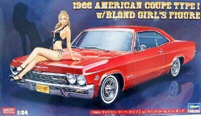Hasegawa 1/24 1965 Chevy Impala SS w Girl Figure IN 1966 Box Model Kit # 52202