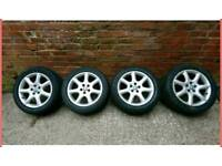 "Jaguar S type 17"" alloy wheels"