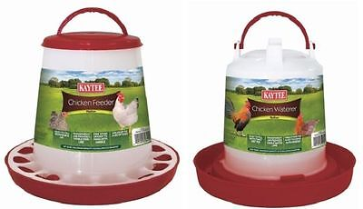 Kaytee Chicken Feeder/Waterer Combo Medium Handle,Colors Vary (Free Shipping - Feeder Waterer
