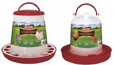 Kaytee Chicken Feeder/Waterer Combo Medium Handle,Colors Vary (Free Shipping USA