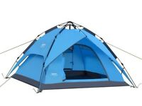 2 - 3 man pop up tent **2 x FREE sleeping bag**