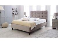 Double smooth velvet bed frame