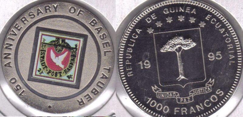 1995 Eq.Guinea Large100 Fr.Error-Tauber.