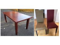 Solid Mahogany Table 180cm & 8 Chairs FREE DELIVERY 369