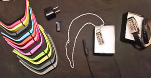 Fitbit Flex + 12 colour bracelets, necklace, leather bracelet