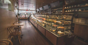 Pastry, Deli, Fish, Fresh meat, Fish, Donuts, Bakery cases.