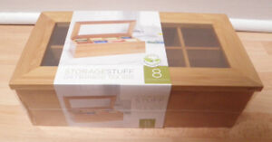 Bamboo Storage Tea Bag Box (new)