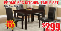 Promo 5pc Kitchen Table Set, $299 Tax Included!