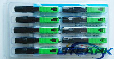 100pcs Ftth Embedded Quick Connector SC/APC Fiber Optic Connector (Apc Fiber Optic)