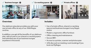 SIGN UP TODAY FOR THE PLATINUM REGUS MEMBERSHIP CARD