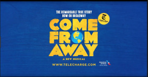 ISO  1 Come From Away Ticket for March 19 or 20 - reasonable $!