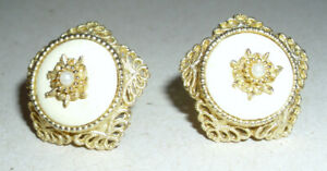 Button Style Clip on Earrings