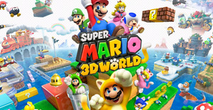 Nintendo Wii U gamepad and console with 3d Mario world