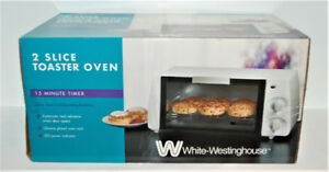 BRAND NEW in BOX White Westinghouse 2-Slice Toaster Oven