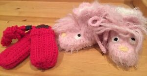 Knit Mittens and Baby Boots
