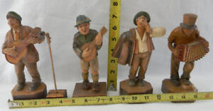 ANTIQUE RHON SEPP MADE IN GERMANY WOOD CARVING BAND FIGURES