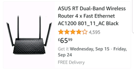 New Asus wireless router
