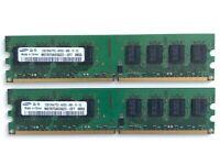 RAM 4GB (2x2GB), M378T5663QZ3-CF7, DDR2