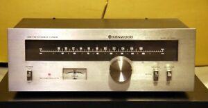Kenwood Vintage FM/AM Silver Tuner Model KT-5300. Rare.
