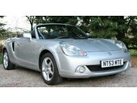 2003/53 TOYOTA MR2 ROADSTER IN SILVER BLACK LEATHER AIR CONDITIONING