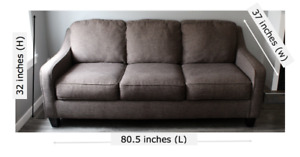 Ashley Tweed Couches