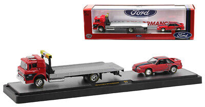 M2 MACHINES AUTO-HAULERS 1966 FORD C-950 FLATBED & 1987 FORD MUSTANG GT