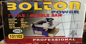 "7""Tile/ Marble Saw - never used"