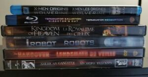 6 movies (2 Blu-Ray & 4 DVDs) like new