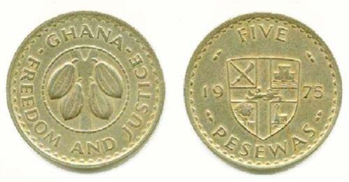 Ghana 1975 5 Pesewas (KM15)
