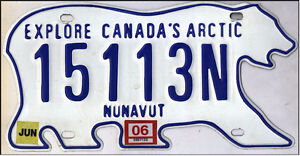 License plate from Iqaluit
