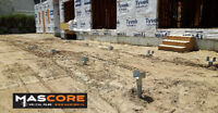 Helical Screw Pile Deck Foundation