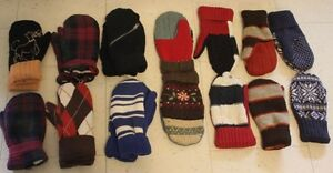 Mittons - home made from sweaters (lined)
