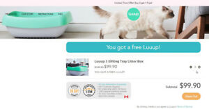1 -Luuup Sifting Tray Cat Litter Box = valeur $49.95 USD