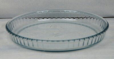 ARCOPAL FLUTED FLAN DISH IN CLEAR GLASS WITH FLUTED EDGE
