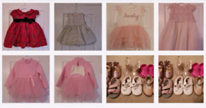 Like New- Easter Baby girl party dresses/ shoes 6m 12m 18m 24m
