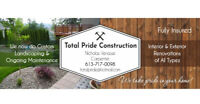 Total Pride Construction. Call us for your free estimate !