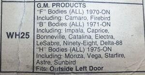 4 -NEW  GM OUTSIDE LEFT DOOR HANDLES 1970 & UP  $10.00 EACH Belleville Belleville Area image 4