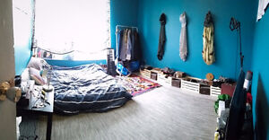 Bright Furnished Bedroom in Dundas West