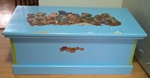 Wooden Storage Chest Toy Box Trunk with Hinge Lid