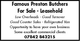 BUTCHERS BUSINESS FOR SALE
