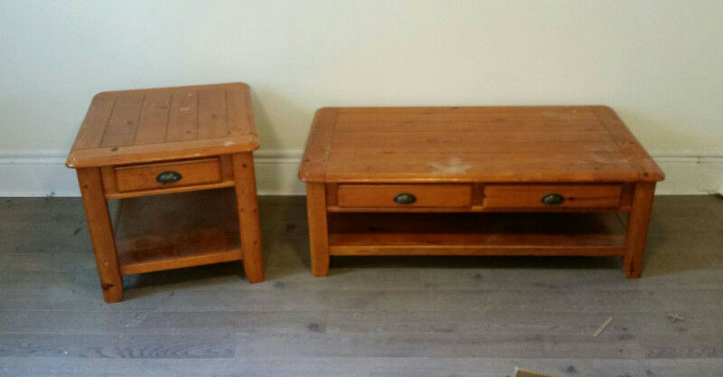Solid Wood Country Style Coffee u0026 Matching Side Table Set | Coffee Tables | Ottawa | Kijiji & Solid Wood Country Style Coffee u0026 Matching Side Table Set | Coffee ...