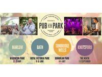 2 x Pub in the Park Tickets - Royal Victoria Park, Bath - Saturday 9th June 12:00 - 17:00