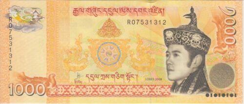 Bhutan Banknote P34a 1000 Ngultrum 2008, UNC