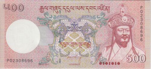 Bhutan Banknote P33b 500 Ngultrum 2011, UNC