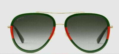 New Gucci  Sunglasses GG0062S 003 Gold/Green Gradient Lens (Gucci Gg0062s)