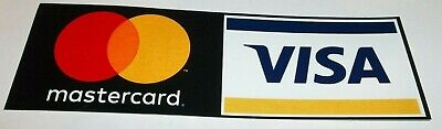 Free Shipping New Credit Card Decal Sticker 2 Sided - Mastercard Visa