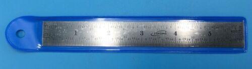 "34-006-N iGaging 6 Inch /150 MM Steel Scale ruler 1/32"" 1/64"" 1mm, .5mm"