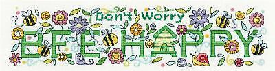 Heritage Crafts Cross Stitch Kit - Bee Happy (Aida)