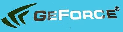 NVIDIA GEFORCE  METALLIC CHROME EFFECT STICKER LOGO AUFKLEBER 120x28mm gebraucht kaufen  Versand nach Germany