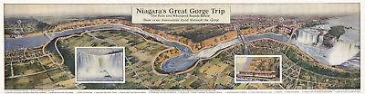Niagara Great Gorge Trip Railroad Map Falls Rapids Wall Art Poster Print Reprint